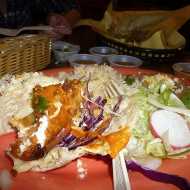 Fish (battered Mahi Mahi) Tacos
