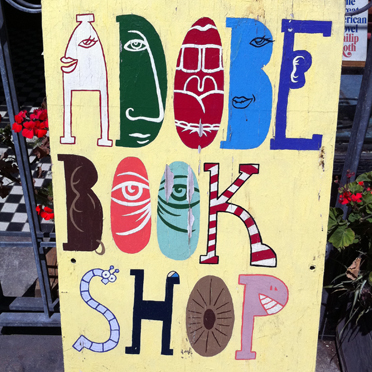 Adobe Book Shop Sign