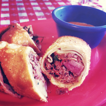 Pulled Pork Egg-roll