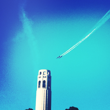 Coit Tower gets a fly-by